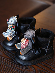 Girl's Baby Boots Winter Comfort Microfibre Casual Flat Heel Others Black Red Others