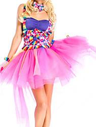 Costumes de Cosplay Princesse Fête / Célébration Déguisement Halloween Incarnadin Mosaïque Robe / Plus d'accessoires Noël Féminin Térylène