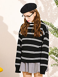 Sign spot Korea ulzzang students loose striped sweater women and two color into