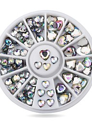 1pcs  Nail Art Decoration Rhinestones Sizes Glitter Heart Nail Beads