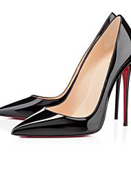Feminino-Saltos-Sapatos com Bolsa Combinando-Salto Agulha-Preto / Vermelho / Transparente-Couro Envernizado-Casual / Festas & Noite