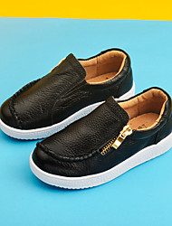 Boy's Loafers & Slip-Ons Moccasin Cowhide Casual Black / Yellow / White