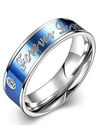 Couple Rings Ring Engagement Ring Stainless Steel Fashion Light Blue Jewelry Wedding Party Daily Casual Sports 1pc