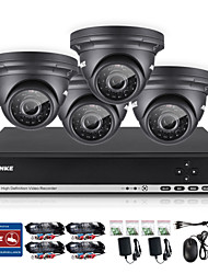 ANNKE 4CH CCTV Camcorder Set AHD DVR 4PCS 720P IR Outdoor Home Security Camera Surveillance System Kit