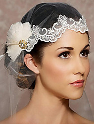 Wedding Veil One-tier Headpieces with Veil Cut Edge Organza