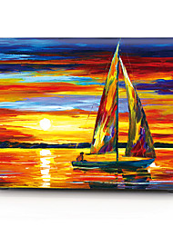 "Case for Macbook 13"" Macbook Air 11""/13"" Macbook Pro 13"" MacBook Pro 13"" with Retina display Oil Painting Plastic Material Sailing Oil Painting"