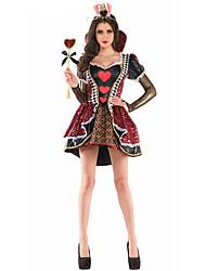 Fantasias de Cosplay Princesa / Rainha Cosplay de Filmes Vermelho Cor Única Vestido Feminino Poliéster