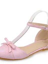 Women's Sandals Summer / Fall Sandals / Pointed Toe / Closed Toe  / Dress / Casual Flat HeelBowknot /