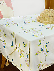 Square Toile Table Cloth , Polyester Material Hotel Dining Table / Table Decoration