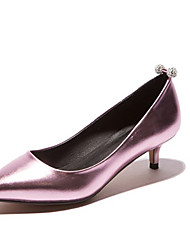Золотой Серебряный Красный Синий Розовый-Для женщин-Для офиса Повседневный Для праздника-Дерматин-На шпилькеОбувь на каблуках