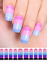 1sheets Candy Colors Full Cover Water Transfer Nail Decals