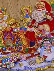 Hirsch Wagen Weihnachtsaufkleber (2 / Paket) Dinge festlicher Atmosphäre Dekoration auf eigene 36cm einfügen