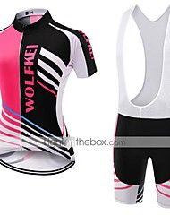WOLFKEI Summer Cycling Jersey Short Sleeves BIB Shorts Ropa Ciclismo Cycling Clothing Suits #37