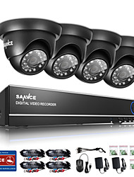 SANNCE 720P Outdoor IR Home Security Camera 1080N 4CH HD DVR CCTV System