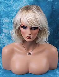 elegante mitad de la longitud sin tapa pelucas onduladas naturales pelucas del pelo humano ombre