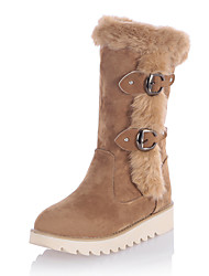 Women's Fall / Winter Platform Fleece / Fashion Boots Snow Boots /Round Toe Office & Career/ Dress/ Casual Fur