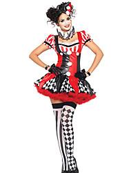 Costumes de Cosplay Burlesques Fête / Célébration Déguisement d'Halloween Robe Plus d'accessoires Noël Féminin Térylène