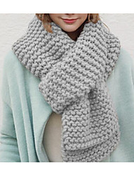 Unisex Knitwear Scarf,Casual RectangleSolid