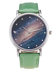 Masculino Mulheres Relógio Esportivo Relógio Elegante Relógio de Moda Relógio de Pulso Quartzo Punk Colorido Mostrador Grande PU Banda