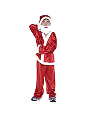 Party Costume Fairytale Festival/Holiday Halloween Costumes Red Solid Leotard/Onesie / Pants / Belt / Hat Halloween / Christmas Kid