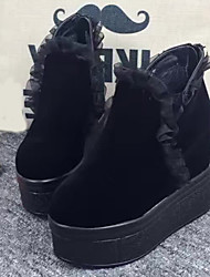 Women's Boots Fall Platform Suede Casual Black