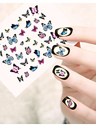 1pcs  Water Transfer Nail Art Stickers Flower Cat Leopard Butterfly Nail Art Design STZ21-25