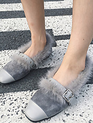 Women's Flats Winter Comfort Fur Casual Black / Gray