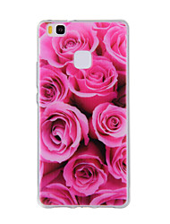 For Huawei Y635 4C 4X 5C 5X P8 P9 P8Lite P9Lite Honor8 Honor7 Honor6 Case Cover Red Rose Pattern TPU Material Phone Case