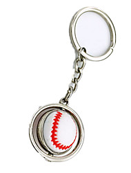 Key Chain Leisure Hobby Key Chain / Novelty Baseball Metal Silver For Boys / For Girls