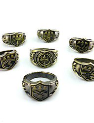 Ring Non Stone Party / Daily Jewelry Alloy Men Ring 1set,One Size Gold