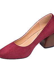 Women's Heels Fall Comfort Patent Leather Casual Wedge Heel Split Joint Black Red Khaki Walking