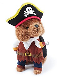 Dog Pet Cat 3D Clothes Halloween Cosplay Playing Costumes For Puppy Kitten Pirate Clothes for Doggy Kitty