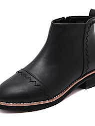 Women's Boots Fall/Winter Fashion Boots/Motorcycle Boots/Bootie/Combat Boots / Round Toe Outdoor Dress/Casual