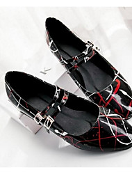 Damen-High Heels-Lässig-PUKomfort-Weiß Schwarz