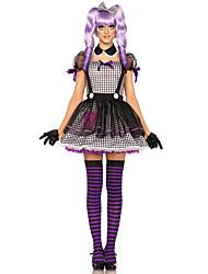 Disfraces de Cosplay Mago/Bruja / Calavera / Vampiros Cosplay de Películas Púrpura / Gris Un Color Vestido / Guantes / Para la Cabeza
