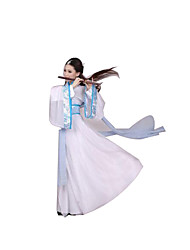 Costumes de Cosplay Fête / Célébration Déguisement Halloween Blanc & bleu / Violet & blanc / Blanc & rose Couleur PleineManteau / Jupe /