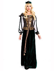 Fest/Feiertage Halloween Kostüme Schwarz Druck Kleid Halloween / Weihnachten / Karneval / Kindertag / Silvester / Oktoberfest Frau