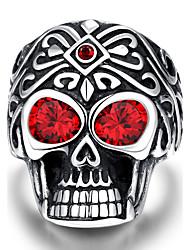 Ringe Totenkopfform Halloween Alltag Normal Sport Schmuck Edelstahl Herren Ring 1 Stück,9 10 11 Silber