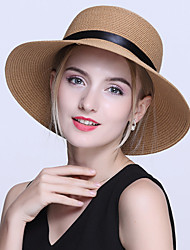 Women Vintage Casual Summer Traveling Bow Hat Beach Collapsible Sun Protection UV Straw Hat