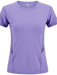 Femme Tee-shirt / Hauts/Tops Exercice & Fitness / Courses / Sport de détenteRespirable / Séchage rapide / Pare-vent / Résistant aux