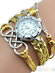 Vintage Eight Love Charm Leather Band Bracelet WristWatches
