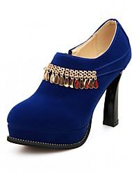 Homme-Bureau & Travail / Habillé / Décontracté-Noir / Bleu / Rouge-Gros Talon-Others-Chaussures à Talons-Similicuir