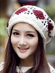 Autumn And Winter New Women 'S Cashmere Knitted Cap Wool Cap Head Cap