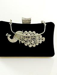 Women Velvet Formal / Event/Party / Wedding Evening Bag/Velvet Diamonds Bag/Purse/Clutch/A Bird of Juno