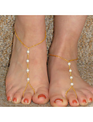 Femme Bracelet de cheville/Bracelet Perle Simple Style Mode Perlé Européen Fait à la main Bijoux Pour Quotidien