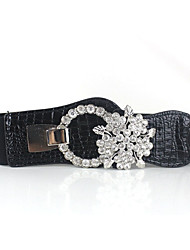 Women PU Wide Belt,Casual Others All Seasons