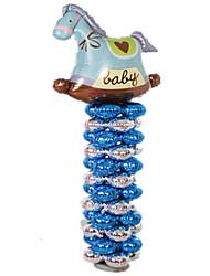 Balões Decoração Para Festas Cavalo alumínio Azul Para Meninos / Para Meninas 5 a 7 Anos / 8 a 13 Anos