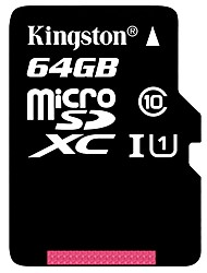 Kingston 64GB Class 10 MicroSD/MicroSDHC/MicroSDXC/TFMax Read Speed10 (MB/S)Max Write Speed10 (MB/S)