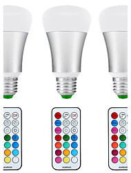 10W E26/E27 Ampoules Globe LED A80 1 COB 1200 lm Blanc Naturel / RVB Gradable / Commandée à Distance / Capteur / Décorative / Etanches V3