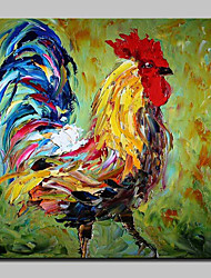 100% Hand-Painted Big Cock Animal Oil Paintings On Canvas Modern Abstract Wall Art Picture For Home Decoration With Stretched Frame Ready To Hang